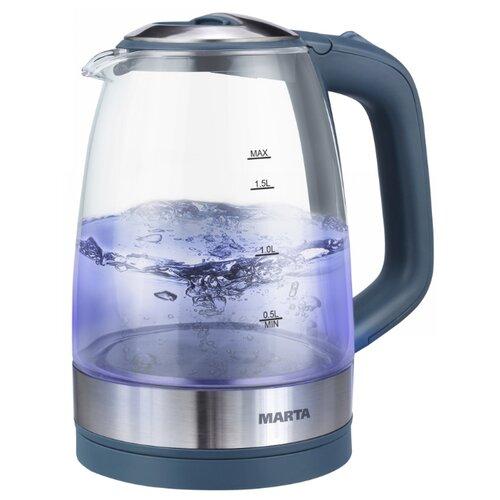 Чайник MARTA MT-1078, серый мрамор электрический чайник marta mt 1083 dark topaz