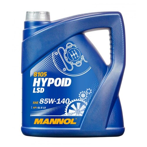 Трансмиссионное масло Mannol Hypoid LSD GL-5 85w140 4 л 3.8 кг трансмиссионное масло chempioil hypoid lsd 60 л