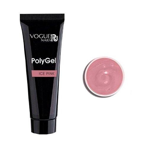 Акригель Vogue Nails PolyGel камуфлирующий для моделирования, 20 мл ice pink