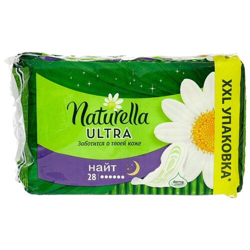 naturella naturella прокладки гигиенические ultra camomile normal duo 20 шт Naturella прокладки Camomile Ultra Night 28 шт.