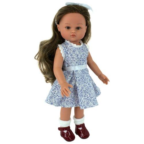 Кукла Lamagik Нэни темноволосая в серо-белом платье, 33 см, 33002