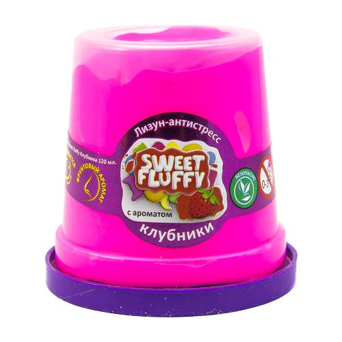 Лизун Mr.Boo! Sweet fluffy с ароматом клубники розовый