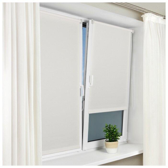 Купить Рулонная штора с направляющими струнами Sola Сантайм уни, Белый, ширина 34 см по низкой цене с доставкой из Яндекс.Маркета (бывший Беру)