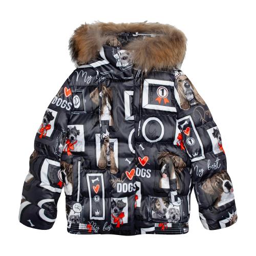 Купить Куртка Gulliver 22008GJC4108 размер 164, серый, Куртки и пуховики