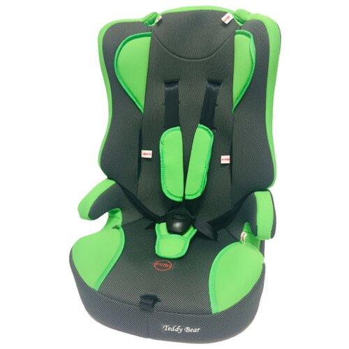 Купить Автокресло группа 2/3 (15-36 кг) Мишутка LB 513 (без вкладыша), green/black dot, Автокресла