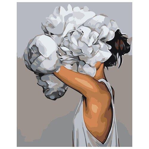 Купить Картина по номерам Живопись по Номерам Девушка в цветах 8 , 40x50 см, Живопись по номерам, Картины по номерам и контурам