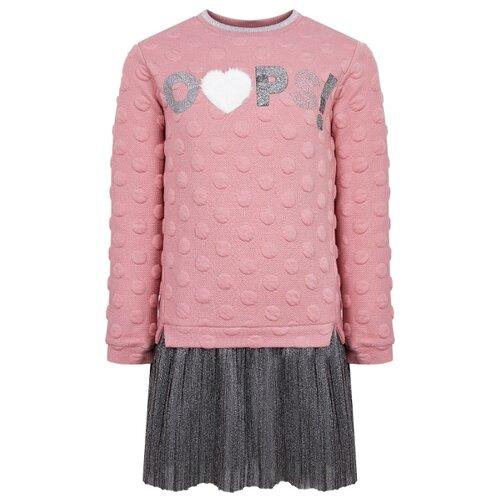 Платье Mayoral размер 92, розовый/серый платье mayoral размер 92 белый розовый