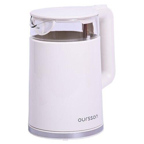 Чайник Oursson EK1732W/IV, white чайник электрический oursson ek1732w dc