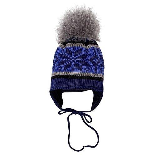 Шапка Regina размер 44-46, синий шапка ultis размер 44 46 белый с красными цветами