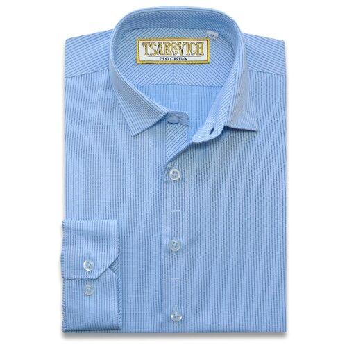Рубашка Tsarevich размер 30/122-128, голубой
