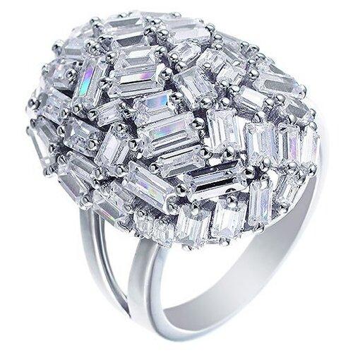 JV Кольцо с фианитами из серебра SY-355062-R-003-WG, размер 16.5 jv кольцо с фианитами из серебра sy 355491 r 003 wg размер 18 5