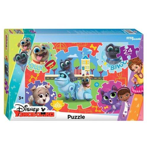 Пазл Step puzzle Maxi Дружные мопсы (90075), 24 дет. пазл step puzzle maxi даша путешественница 90050 24 дет