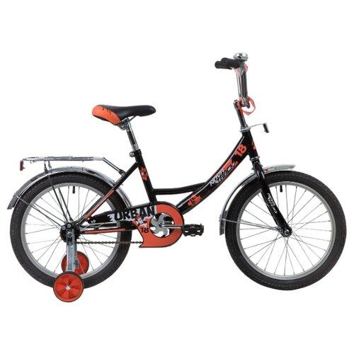 Детский велосипед Novatrack Urban 18 (2020) черный (требует финальной сборки) велосипед ghost square urban 2 2016