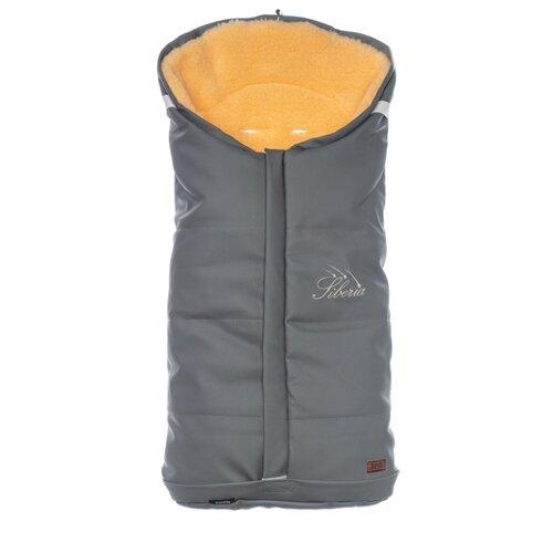 Купить Конверт-мешок Nuovita Siberia Lux Pesco меховой 90 см серый, Конверты и спальные мешки
