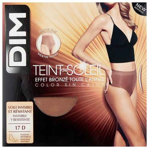 Колготки DIM Teint de Soleil Ventre Plat 17 den, размер 1, hale (бежевый) колготки dim body touch ventre plat 20 den размер 1 peau doree бежевый