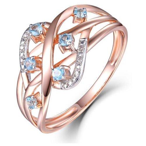 Бронницкий Ювелир Кольцо из красного золота R01-D-70642R002-R17, размер 17 бронницкий ювелир кольцо из красного золота r01 d 1983089ab r17 размер 17