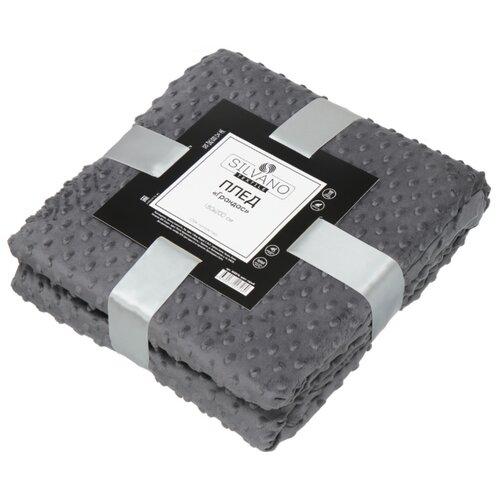 Плед Silvano Textile Грандас, 180 х 200 см (GLAB0011) серый
