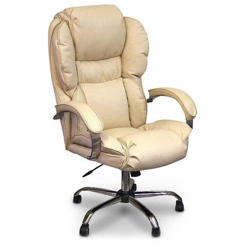 цена на Компьютерное кресло Креслов Барон КВ-12-131112 для руководителя, обивка: искусственная кожа, цвет: слоновая кость