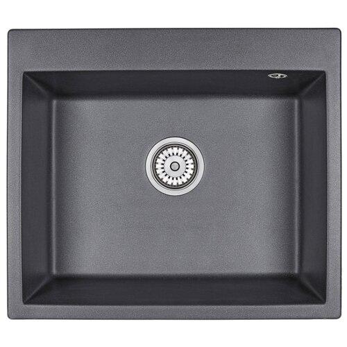 Фото - Врезная кухонная мойка 60 см Granula 6001 черный врезная кухонная мойка 57 5 см granula 5802 антик