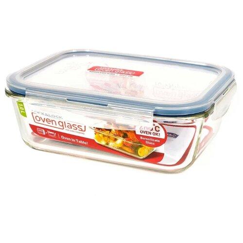 Lock & Lock Контейнер прямоугольный пищевой OvenGlass LLG445 прозрачный