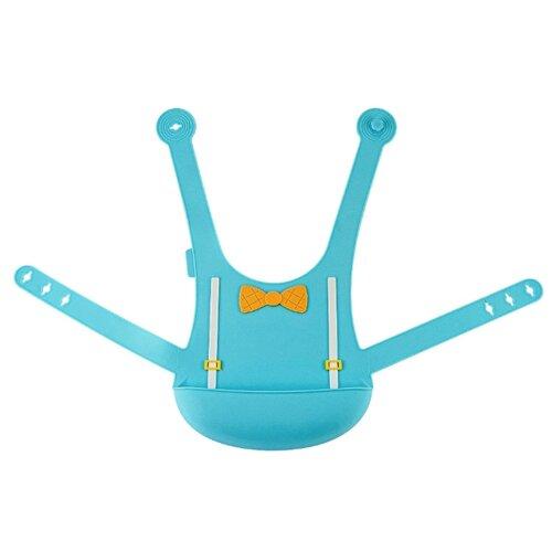 Купить Нагрудник силиконовый с застежкой на спине аквамарин Little Angel, Нагрудники и слюнявчики
