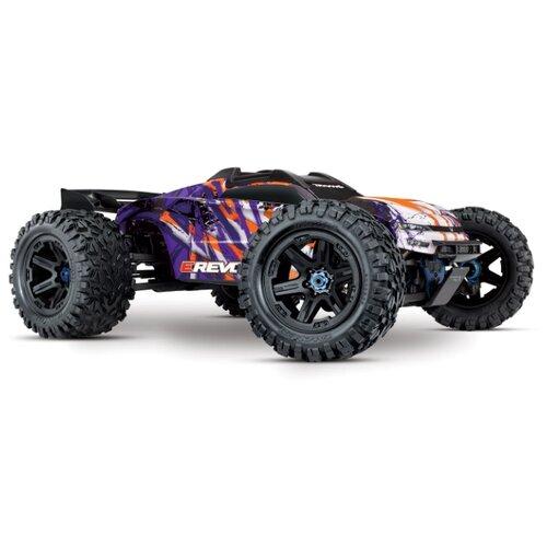 Купить Трагги Traxxas E-Revo 6S (TRA86086-4) 1:10 58.5 см фиолетовый/оранжевый, Радиоуправляемые игрушки