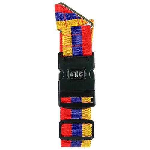 Ремень для багажа verona Corvus, триколор набор для путешествий многофункциональный дорожный адаптер ремень для багажа уп 1 40наб