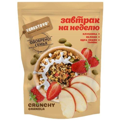 Гранола Verestovo хлопья клубника, яблоко, семена тыквы, дой-пак, 300 г гранола verestovo хлопья персик клюква семена тыквы дой пак 300 г