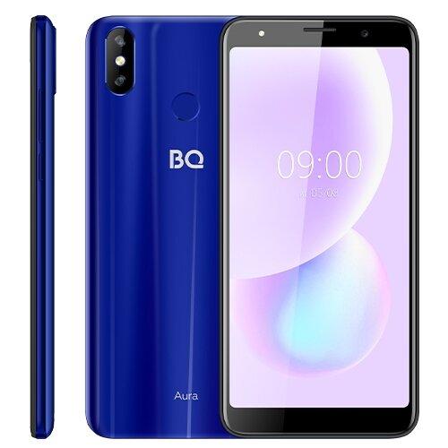 Смартфон BQ 6022G Aura, синий смартфон bq 6022g aura фиолетовый