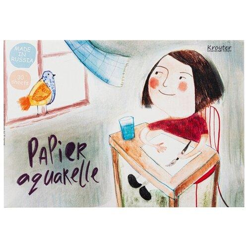 Альбом для рисования акварелью Kroyter А4 Друзья 00018 (30 листов) недорого