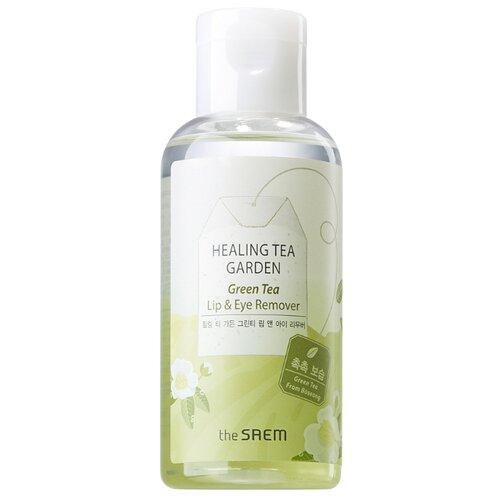 Купить The Saem средство для снятия макияжа с глаз и губ с зеленым чаем Healing Tea Garden, 150 мл