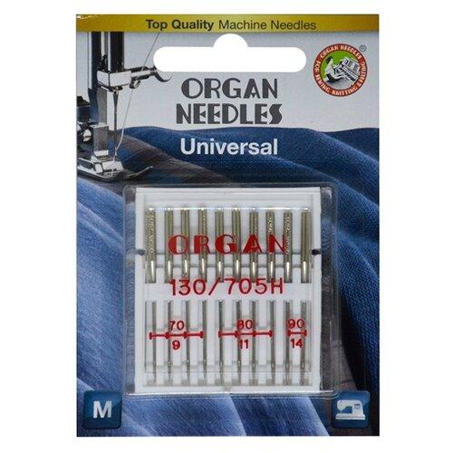Игла/иглы Organ Universal 10/70-90 серебристый