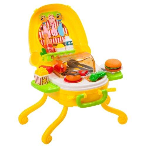 Фото - Игровой набор BONDIBON Кафе Гамбургерная ВВ3699 желтый/зеленый игровой набор bondibon кафе гамбургерная вв3699 желтый зеленый