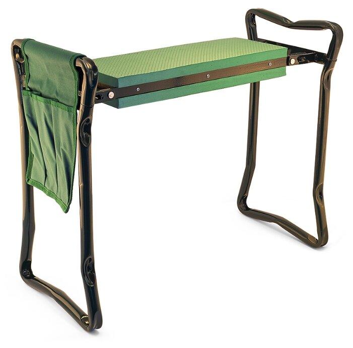 Скамья садовая с карманом для инструмента ЧУДЕСНЫЙ САД MC01 двухпозиционная зеленая