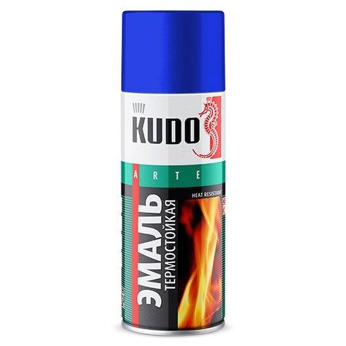 Фото - Эмаль KUDO термостойкая синий 520 мл эмаль kudo термостойкая