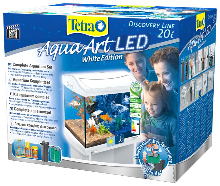 Аквариумный набор 20 л (фильтр, крышка, освещение) Tetra AquaArt LED Discover Line Goldfish