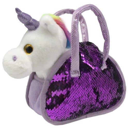 Фото - Мягкая игрушка Пушистые друзья Единорог в сумке с пайетками 21 см кмит елена пушистые друзья барашек бяша