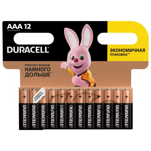 Фото - Батарейка Duracell Basic AAA 12 шт блистер батарейка duracell ultra power aaa lr03 12 шт блистер