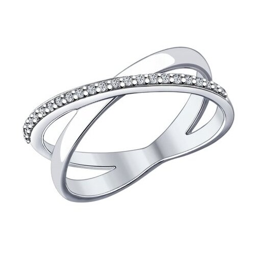SOKOLOV Кольцо из серебра с фианитами 94012051, размер 18.5 по цене 1 790