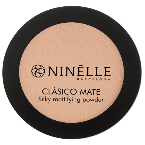 Ninelle Пудра компактная CLASICO MATE 204, розово-бежевый темный