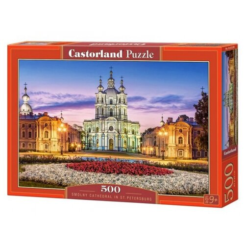 Купить Пазл Castorland Smolny Cathedral in St/ Petersburg (В-53209), 500 дет., Пазлы