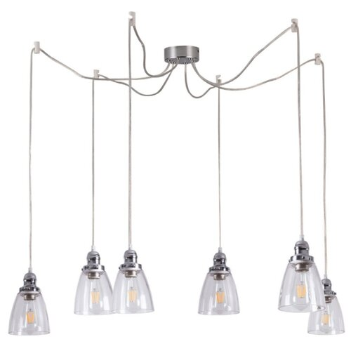 Люстра Arte Lamp Trento A9387SP-6CC, E27, 240 Вт люстра arte lamp camomilla a6049pl 6cc e27 240 вт