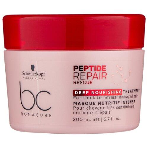 Фото - BC Bonacure Peptide Repair Rescue Deep Nourishing Маска для волос интенсивная питательная, 200 мл bc bonacure keratin smooth perfect маска для гладкости волос 750 мл