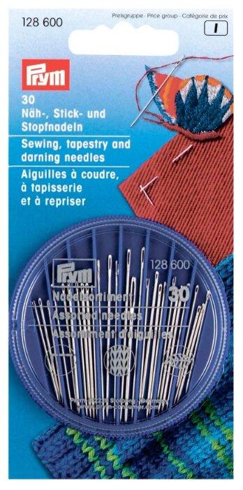Набор игл ручных Prym 128600 швейных, для вышивания и штопки в коробочке 30 шт.