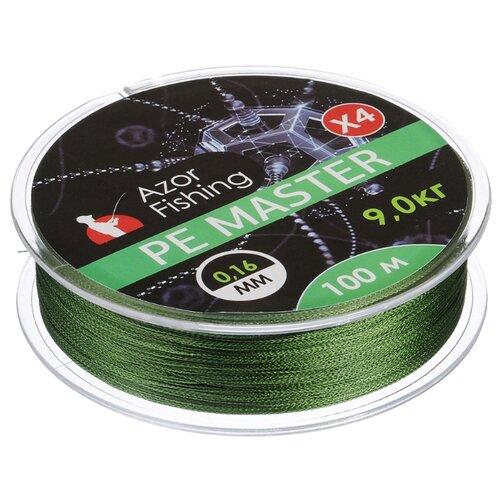 Плетеный шнур AZOR PE Master зеленый 0.16 мм 100 м 9 кг