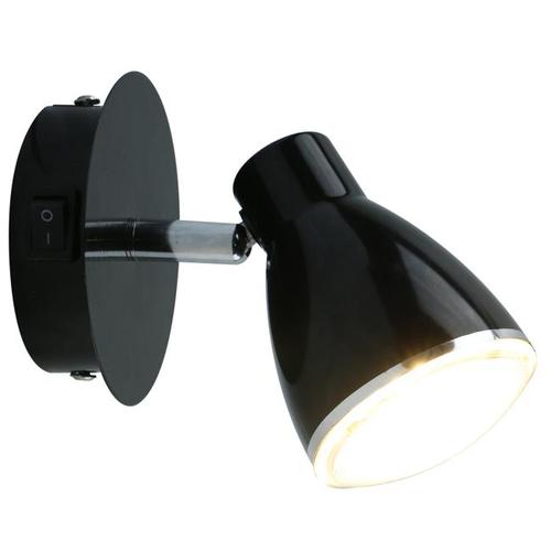 Фото - Бра Arte Lamp Gioved A6008AP-1BK, с выключателем, 5 Вт бра paulmann hemisphere 66630 с выключателем 4 5 вт