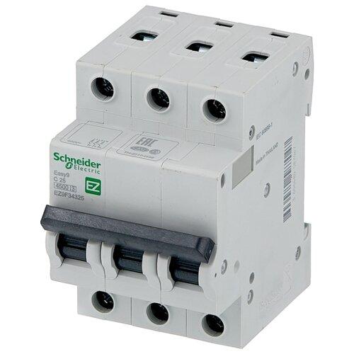 Автоматический выключатель Schneider Electric Easy 9 3P (C) 4,5kA 25 А автоматический выключатель schneider electric ez9f34306 easy 9 3p 6a c