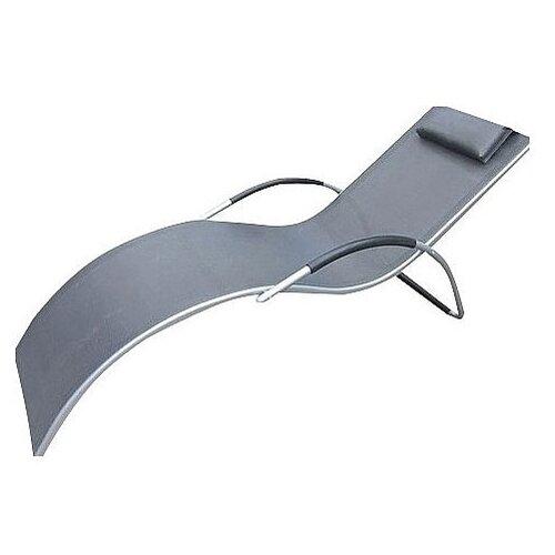 Шезлонг Афина-Мебель MC-3039, silver-black