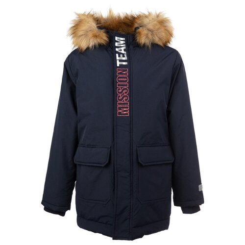 Купить Куртка playToday Сlassic 2020 22011077 размер 152, темно-синий, Куртки и пуховики
