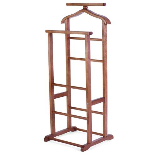 Напольная вешалка Мебелик В 9Н средне-коричневый напольная вешалка мебелик вешалка напольная в 33н